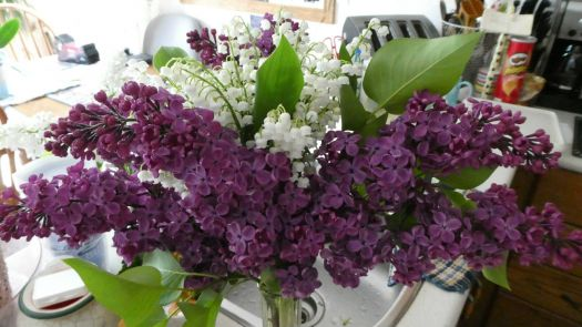 Purple Lilacs and Lily of the Valley