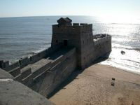 The great wall of China meets the sea