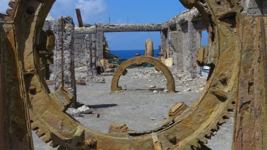 White Island Sulphur Factory remains