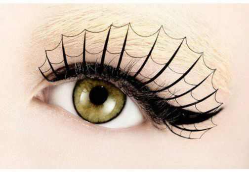 Theme: Halloween Spider Web Eye Lashes - Oh to be young again.  I want them.