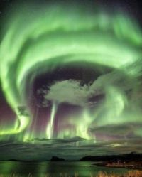 Aurora Borealis over Tromsø, Norway by @amsterdamloco