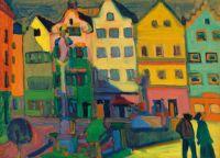 Wassily Kandinsky (Russian, 1866–1944), Weilheim-Marienplatz (1909)