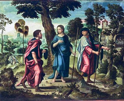 Pieter Coeke van Aelst (c1502-50) - Christ and His Disciples on the Road to Emmaus