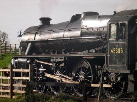Black 5 number 45305 at Quorn