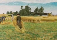 "Laurits Andersen Ring, ""Danish Harvest Time, Ladby"" 1919"
