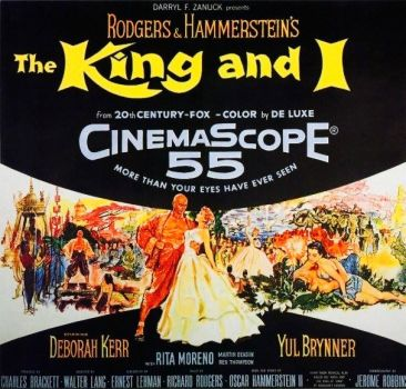 THE KING AND I - 1956 MOVIE POSTER  DEBORAH KERR & YUL BRYNNER