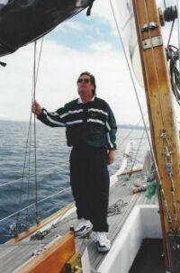 Doug sailing