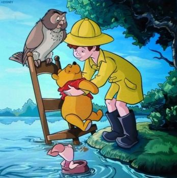 Pooh and friends . . . . .