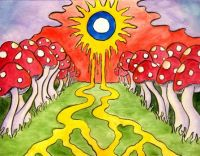 melting sun mushrooms