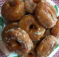 Sweet potato doughnuts for tea time