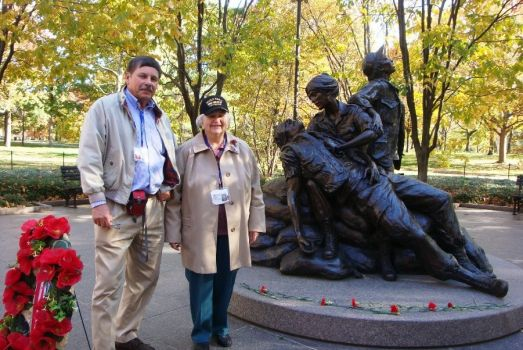We viewed WWII  Memorial honoring women who served