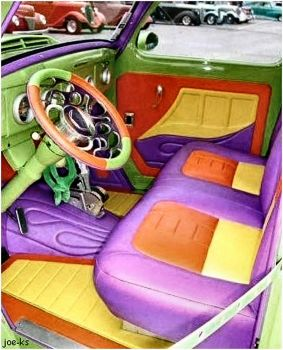 Colorful Car Interior