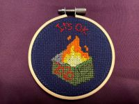2020 Dumpster Fire Cross-Stitch