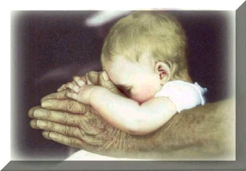 Baby's prayer--in His hands