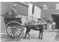 Burr's bakery delivery cart 1907
