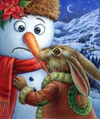 Hungry Rabbit and Unfotunate Snowman