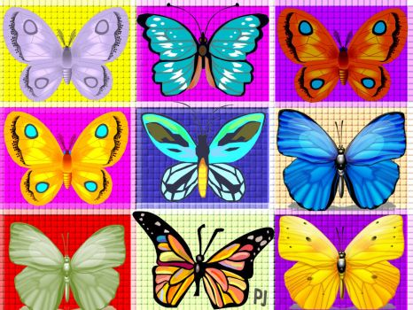 Butterflies on squares