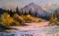 landscape - tempera painting