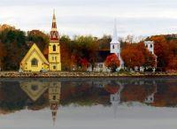 Autumn in Mahone Bay, Nova Scotia