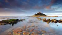 Saint Michael's Mount, a tidal island in Mount's Bay, Cornwall, England