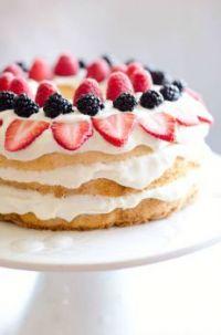 Light Berry Angel Food Cake