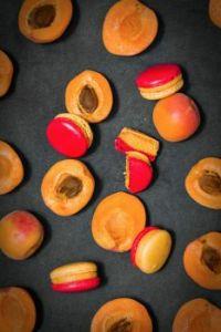 Peach Macarons