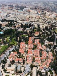 Israel From The Air.  Jerusalem.