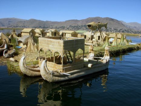 STRAW BOATS ON LAKE TITICACA