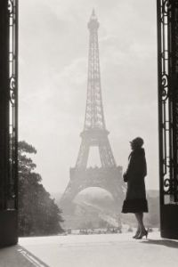 Photo of the Eiffel Tower, Paris, in 1928
