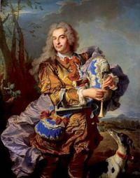 Hyacinthe Rigaud, Portrait of Gaspard de Gueidan Playing the Musette (1738)