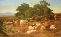 """Auguste Bonheur, """"The Return from the Pasture"""", 1861"""