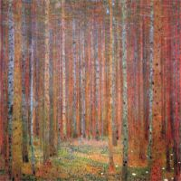 Tannenwald I by Klimt