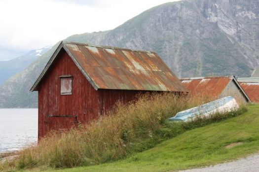 Boathouses in Eidsdal, Norway, by Bart & Co (flickr)