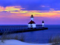 lighthouse St. Joe sunset