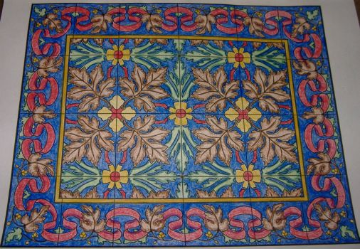 Art - Tile - Shaded Floral