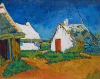 Vincent van Gogh - White Cottages at Saintes-Maries - 1888