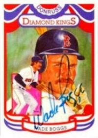 Wade Boggs Autographed 1984 Donruss Diamond King