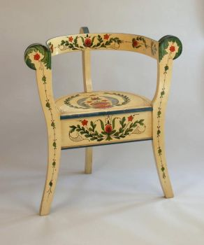 Norwegian rosemaling chair