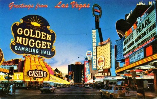 LAS VEGAS - POSTCARD FROM THE 1960'S