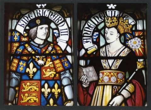 Richard-iii & his wife, Anne of Neville - stained-glass