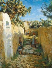 Peder Mork Mønsted (Danish, 1859–1941),  Anacapri (1884)