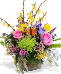Happiness is.....A Springtime Arrangement of Flowers.
