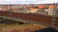 Prague, track to train station