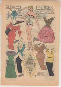 Paper Doll  Gloria's Fashions