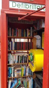 Book Swap and Defibrillator, Hatton, Cheshire UK