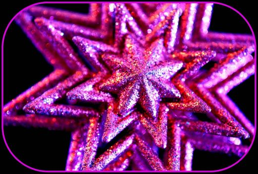 Pinknblack Christmas Star