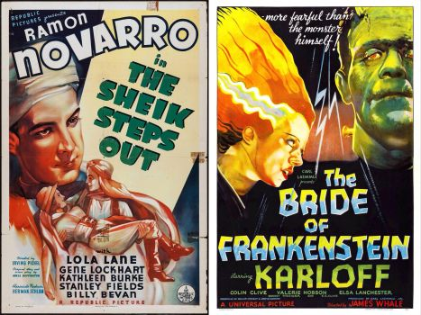The Sheik Steps Out ~ 1937 and The Bride of Frakenstein ~ 1935