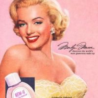 Marilyn Monroe vintage make-up ad