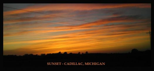 SUNSET - CADILLAC MICHIGAN