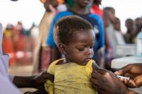 Youssouf gets his measles vaccine